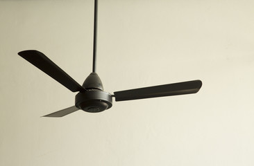 black fan in living room