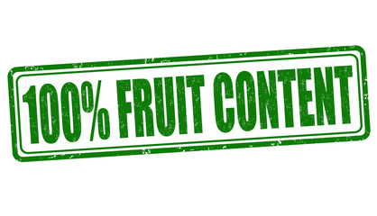 One hundred percent fruit content stamp