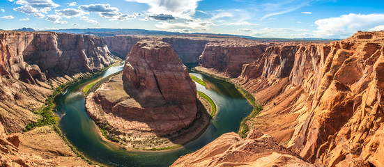 Panorama view at the Horseshoe Bend Wall mural