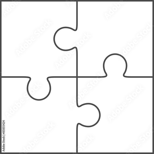 Quot Jigsaw Puzzle Blank Vector 2x2 Four Pieces Quot Stock Image