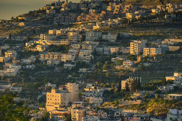 Morning view of the old city of Jerusalem