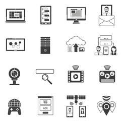 It Icons Black Set