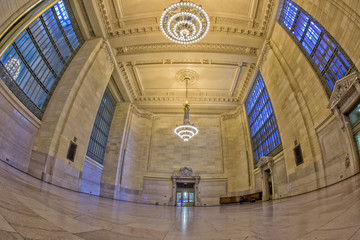 Grand Central station with moving people