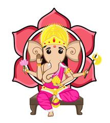 Aluminium Prints Superheroes Hindu God - Ganesha