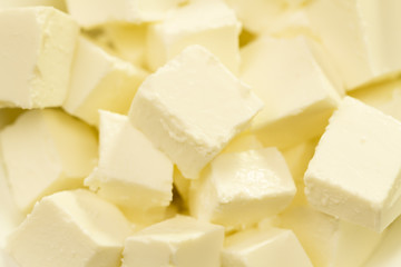 feta cheese, Greek traditional, closeup