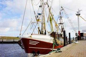 Fishing Trawler lying in the Harbor