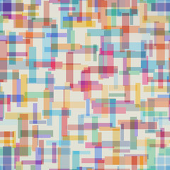 Colorful abstract pattern from rectangle shape. Vector