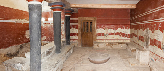 The Throne Room at Minoan palace of Knossos