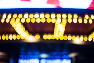 Boken theater marquee lights