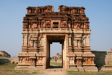 Ruins in hampi karnataka india
