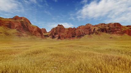 Red canyon rocks at daytime