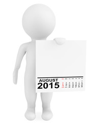 Character holding calendar August 2015