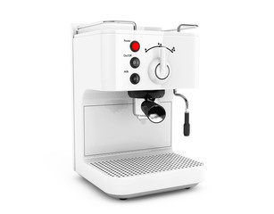 Espresso Coffee Making Machine. 3d rendering