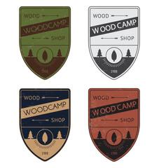 Set of a color badges in vintage style