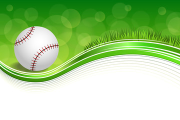 Background abstract green grass baseball ball frame illustration vector