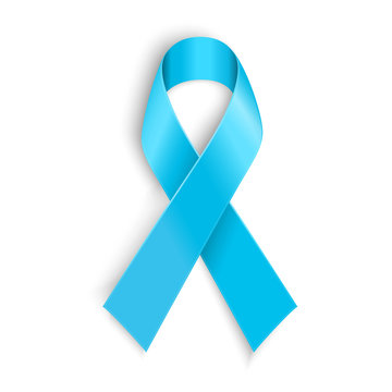 Light blue ribbon as symbol of prostate cancer