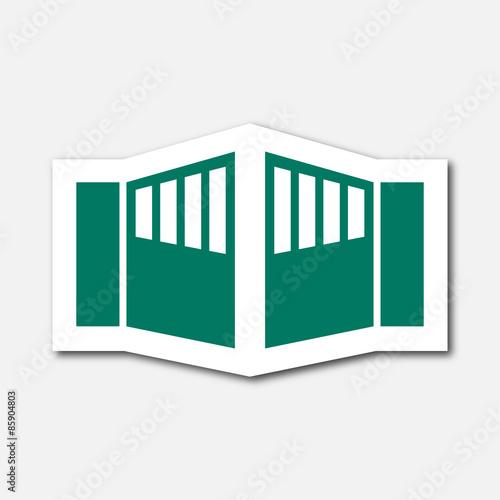 Logo portail fichier vectoriel libre de droits sur la - Portail automatique ouverture exterieure ...