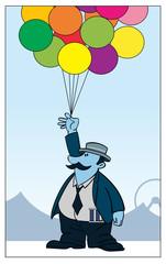 Carnival Balloons / A man sells balloons.