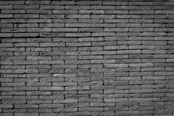 brick wall background in black and white color
