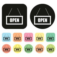 Open icon. Open Shop. Vector