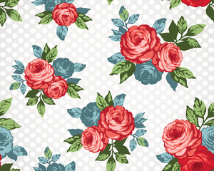seamless pattern / vintage floral seamless pattern