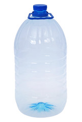 One big bottles of water (Clipping path)