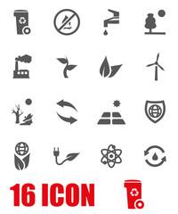 Vector grey eco icon set