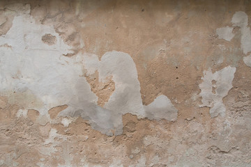 Wall Mural - Old and weathered crack cememt wall