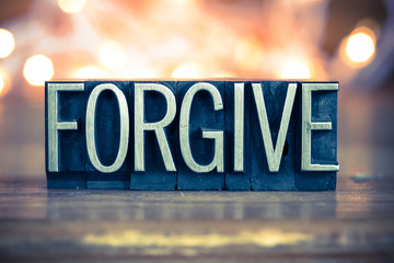 Forgive Concept Metal Letterpress Type