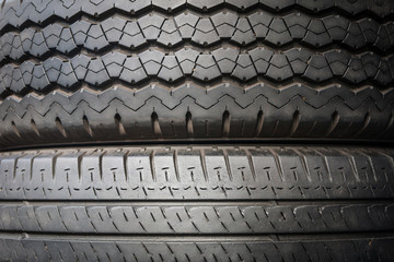 Texture of the rubber tires