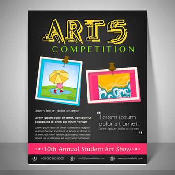 Poster, banner and flyer for Arts Competition.