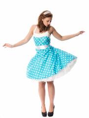 Pinup Mädchen tanzt