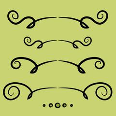 Set of decorative lines