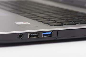 USB 2.0 and 3.0 ports of laptop computer