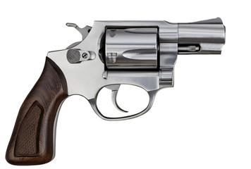 Pistol Revolver Handgun Isolated On White Background