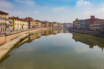 The Pisa city in Tuscany, Central Italy
