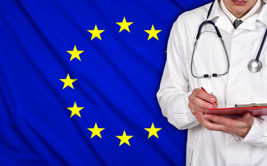 Doctor and EU flag