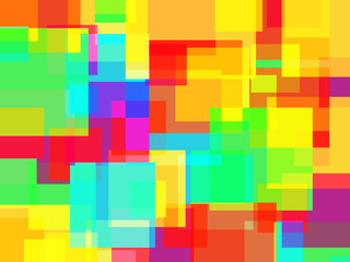 Abstract rainbow colors squares with shattered effect