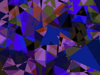 Abstract blue color triangles background