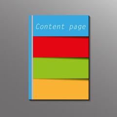 nice color brochure graphic style - vector