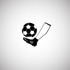 Football kick icon