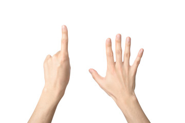 hand sign of number six