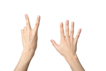 hand sign of number seven