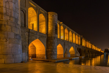 The Si-o-Seh Pol, The Bridge of 33 Arches, in Isfahan, Iran