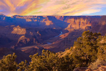Majestic Vista of the Grand Canyon at Dusk Fotoväggar