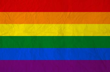 Rainbow flag on Vintage paper texture background