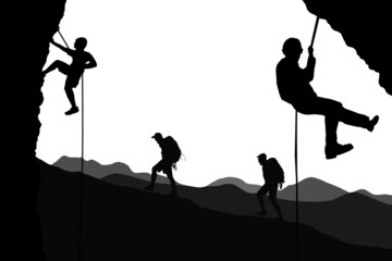 climbers. vector file