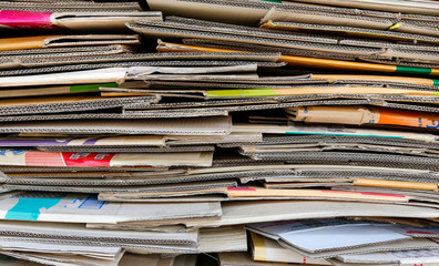 paper pile recycle
