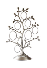 Image of vintage antique classical frame of family tree isolated