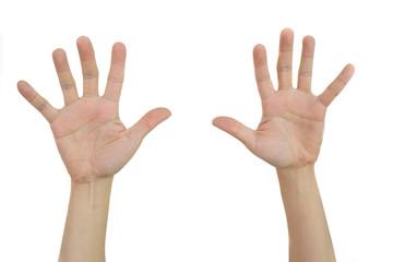 two hands show ten fingers